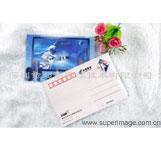 神州十号太空授课活动纪念3D光栅明信片