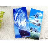 3D立体书签制作 动感书签 三维立体书签吊卡 风景书签 3D海底世界书签系列供应商